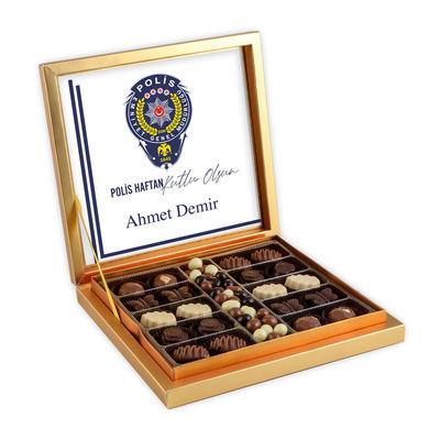 10 Nisan Polis Haftasına Özel Kahve Drajeli Special Çikolata 290g Gold Kutu Polise Hediye