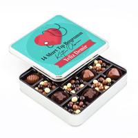 Hacı Şerif - Tıp Bayramı Hediye Kahve Drajeli Special Çikolata (Metal Kutu)