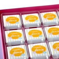 - Unisex Bebek Çikolatası (72 Madlen Çikolata + Sunum Kutusu)