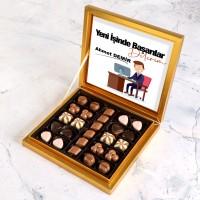 Hacı Şerif - Yeni İş Hediyesi Special Çikolata 285g - Erkek (Gold Kutu)
