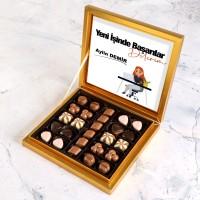 Hacı Şerif - Yeni İş Hediyesi Special Çikolata 285g - Kadın (Gold Kutu)
