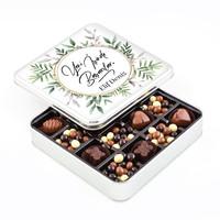 Hacı Şerif - Yeni İş Hediyesi Kahve Drajeli Special Çikolata (Metal Kutu)