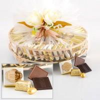 - Yuvarlak Aynalı Tepsi Söz Nişan Çikolatası